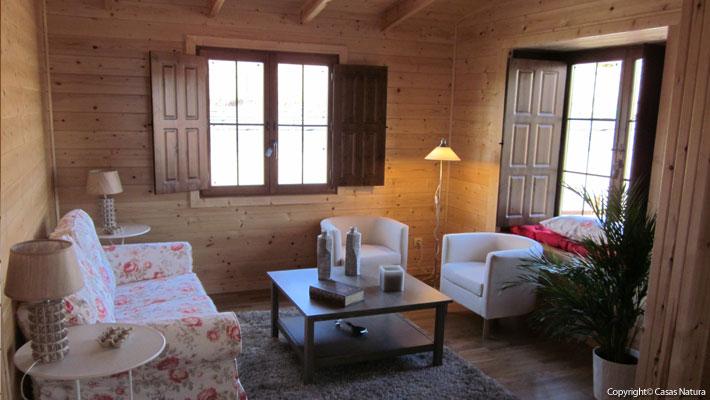 Interior casa de madera madera o pladur - Casas de madera interiores ...